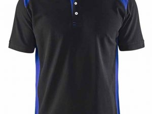 3324 Polo Pique Blaklader zwart/blauw